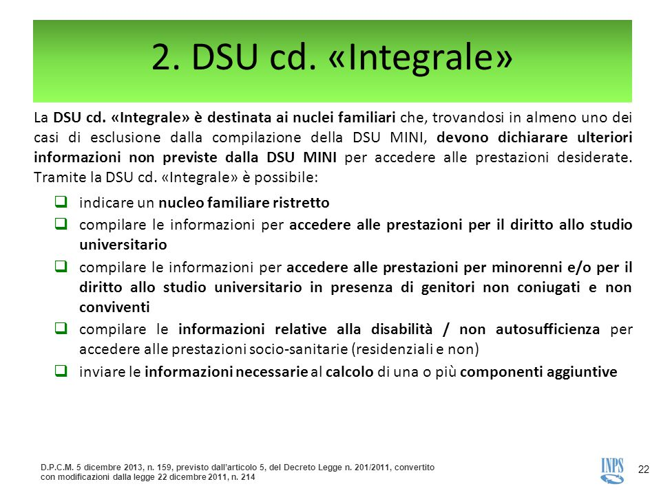 2. DSU cd. «Integrale»