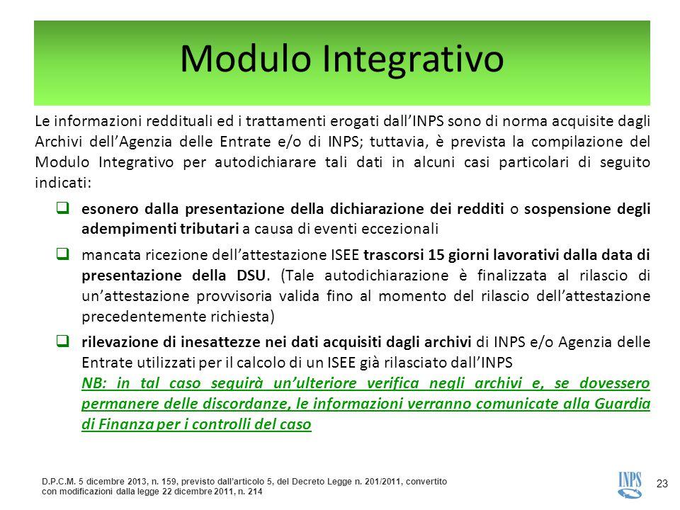 Modulo Integrativo