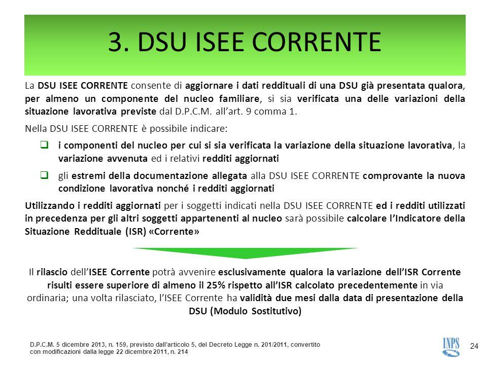 3. DSU ISEE CORRENTE