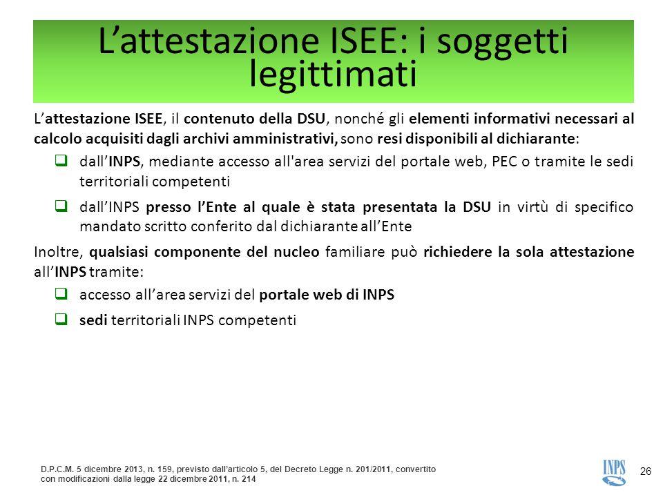 L'attestazione ISEE: i soggetti legittimati