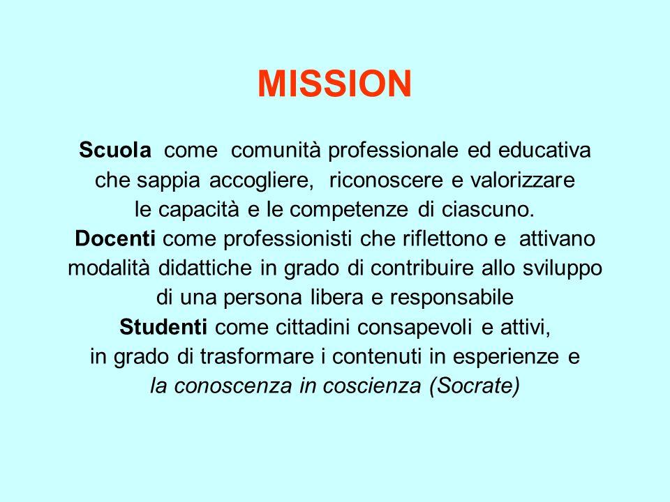 MISSION Scuola come comunità professionale ed educativa