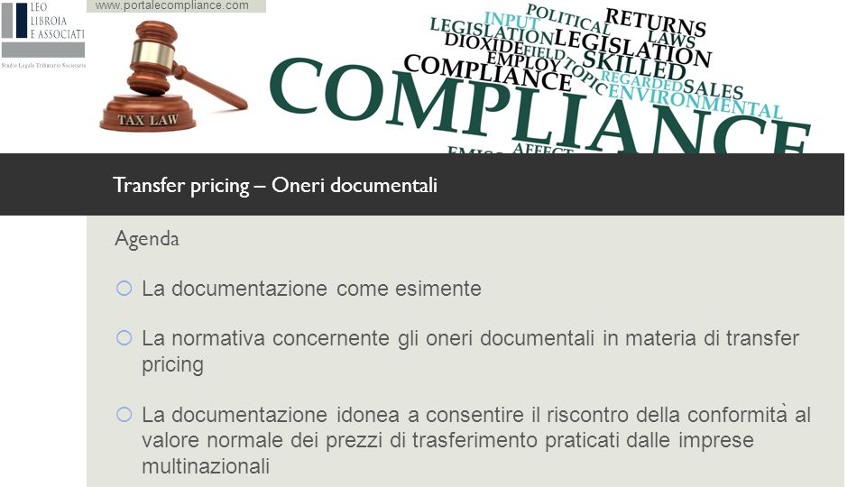 Transfer pricing – Oneri documentali
