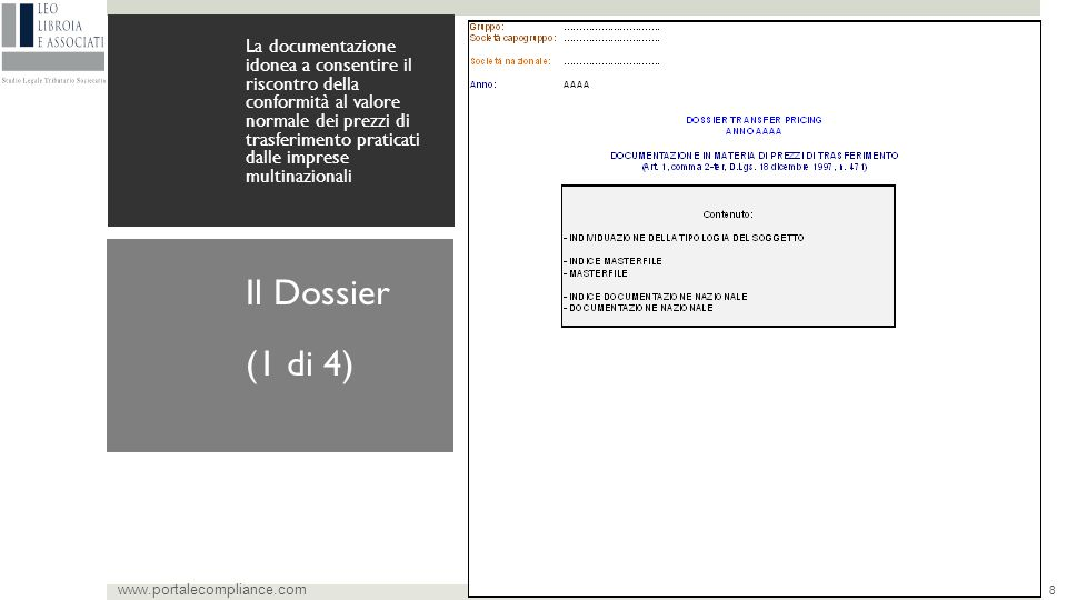(1 di 4) Il Dossier www.portalecompliance.com