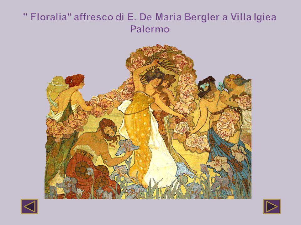 Floralia affresco di E. De Maria Bergler a Villa Igiea Palermo