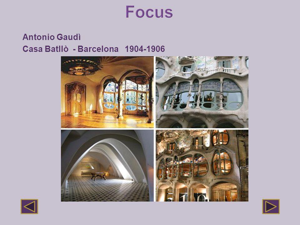 Focus Antonio Gaudì Casa Batllò - Barcelona 1904-1906