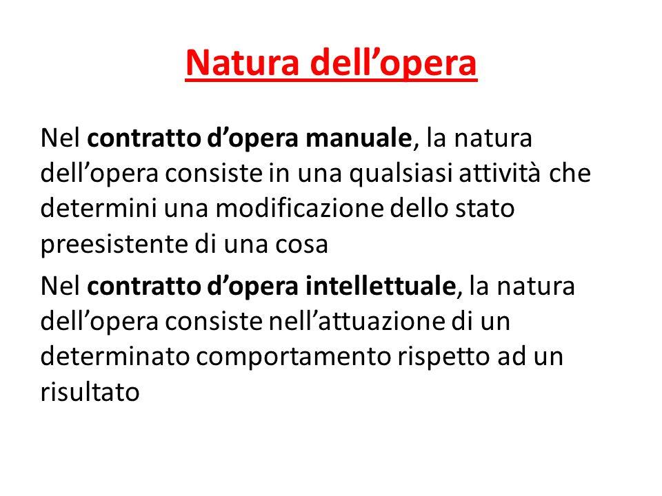 Natura dell'opera