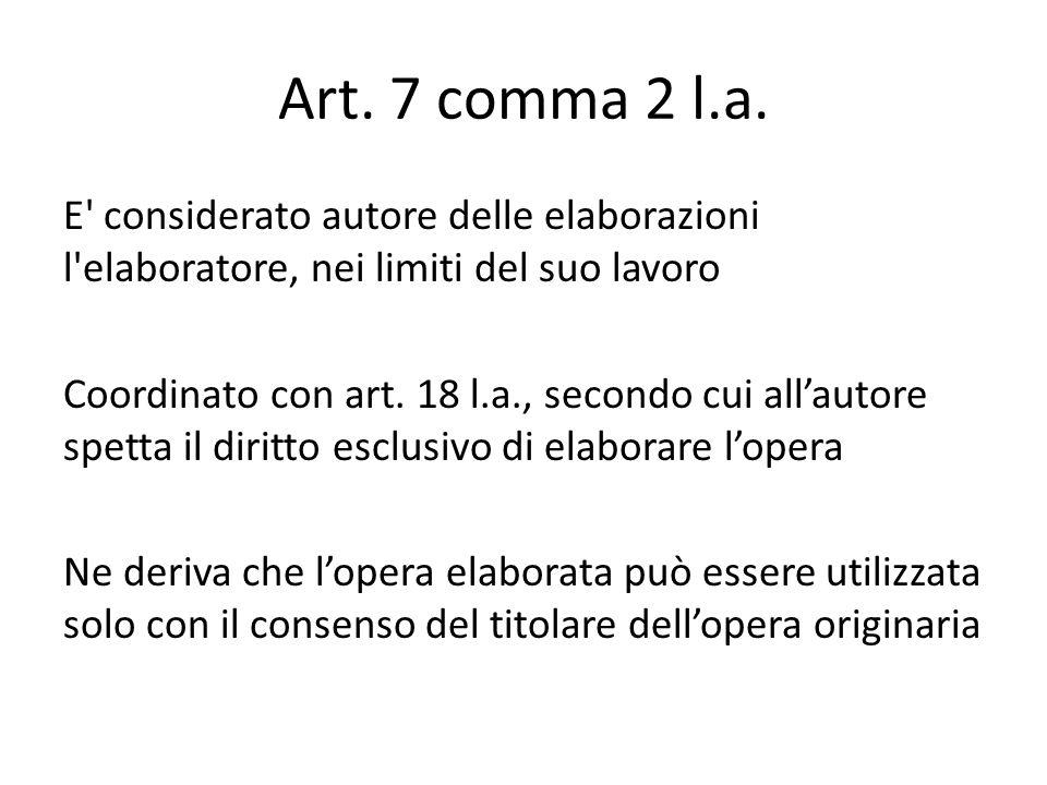 Art. 7 comma 2 l.a.