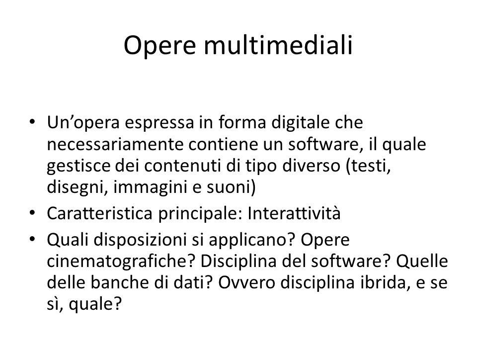Opere multimediali
