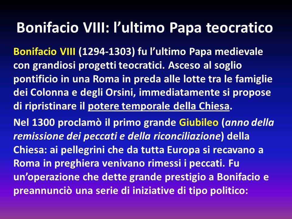 Bonifacio VIII: l'ultimo Papa teocratico