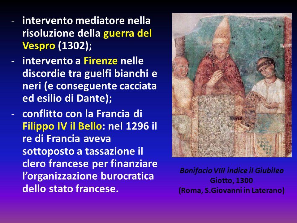 Bonifacio VIII indice il Giubileo (Roma, S.Giovanni in Laterano)