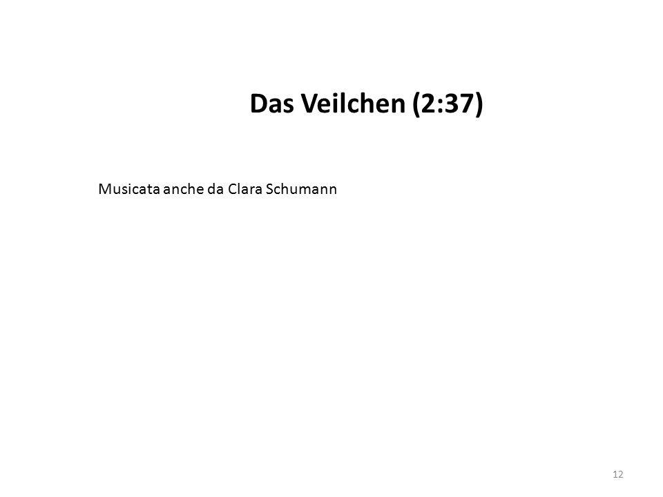 Das Veilchen (2:37) Musicata anche da Clara Schumann