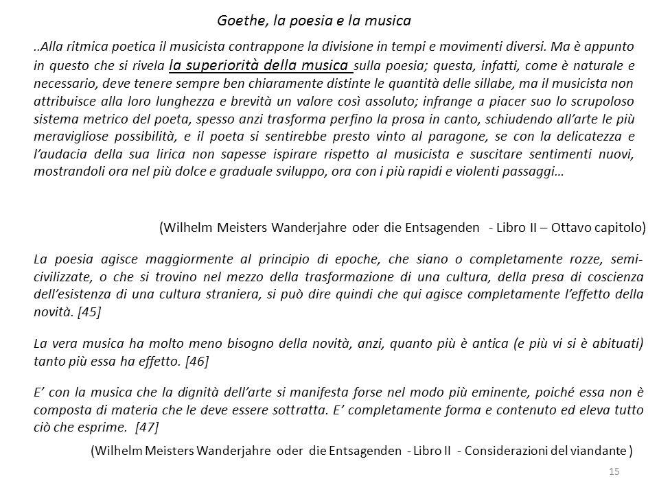 Goethe, la poesia e la musica