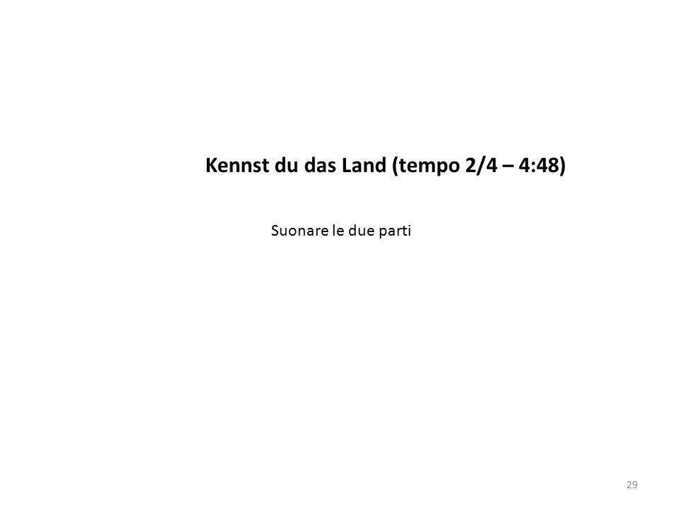 Kennst du das Land (tempo 2/4 – 4:48)
