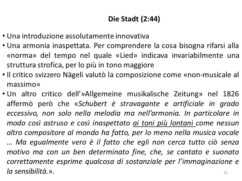 Die Stadt (2:44) Una introduzione assolutamente innovativa.