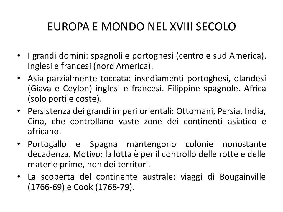 EUROPA E MONDO NEL XVIII SECOLO