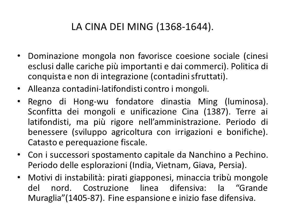 LA CINA DEI MING (1368-1644).