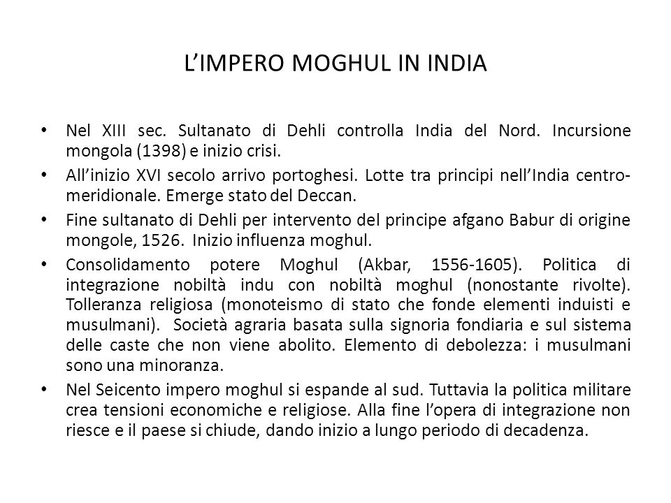 L'IMPERO MOGHUL IN INDIA
