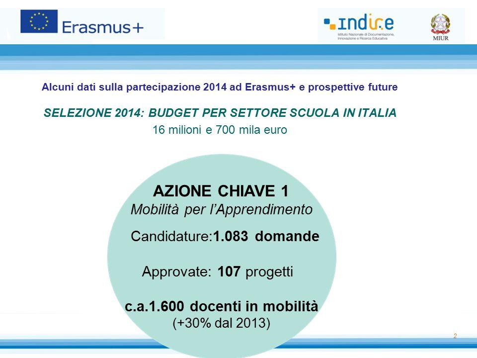 SELEZIONE 2014: BUDGET PER SETTORE SCUOLA IN ITALIA