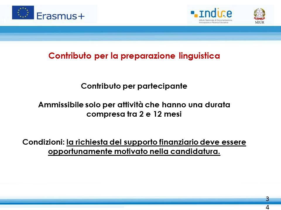 Contributo per la preparazione linguistica