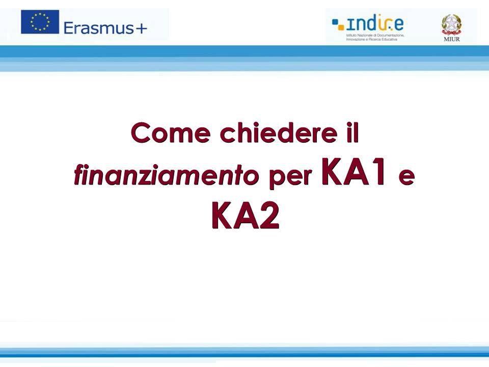 Come chiedere il finanziamento per KA1 e KA2