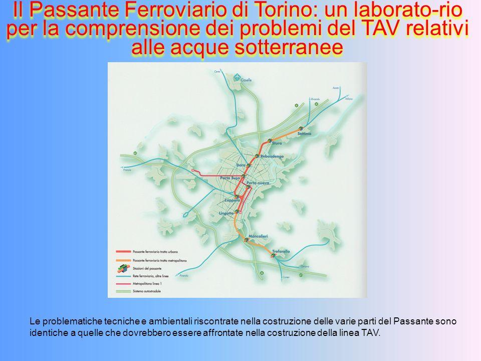 Il Passante Ferroviario di Torino: un laborato-rio per la comprensione dei problemi del TAV relativi alle acque sotterranee