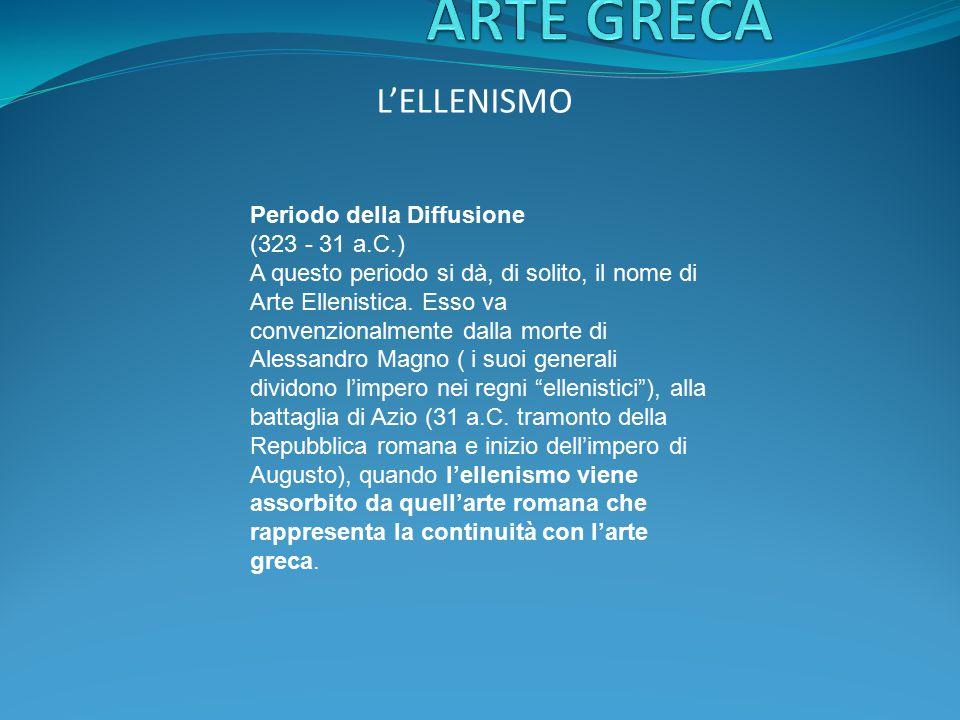 ARTE GRECA L'ELLENISMO Periodo della Diffusione (323 - 31 a.C.)