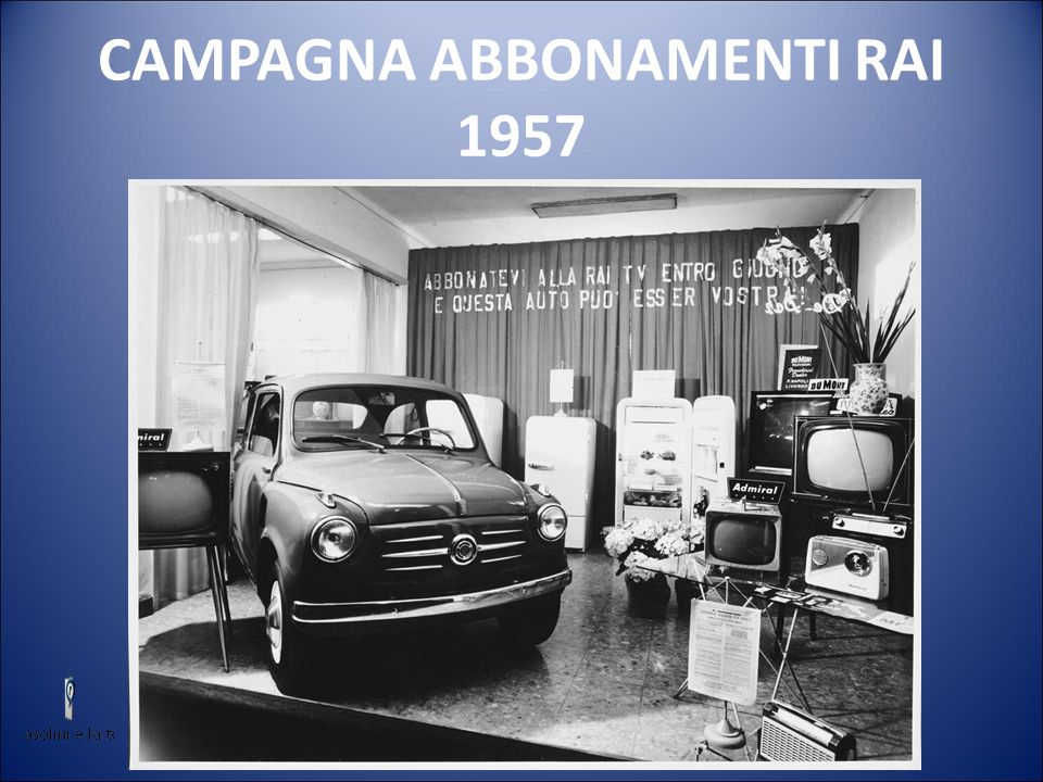 CAMPAGNA ABBONAMENTI RAI 1957