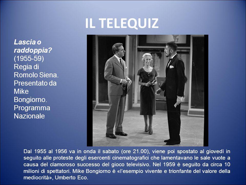 IL TELEQUIZ Lascia o raddoppia (1955-59)