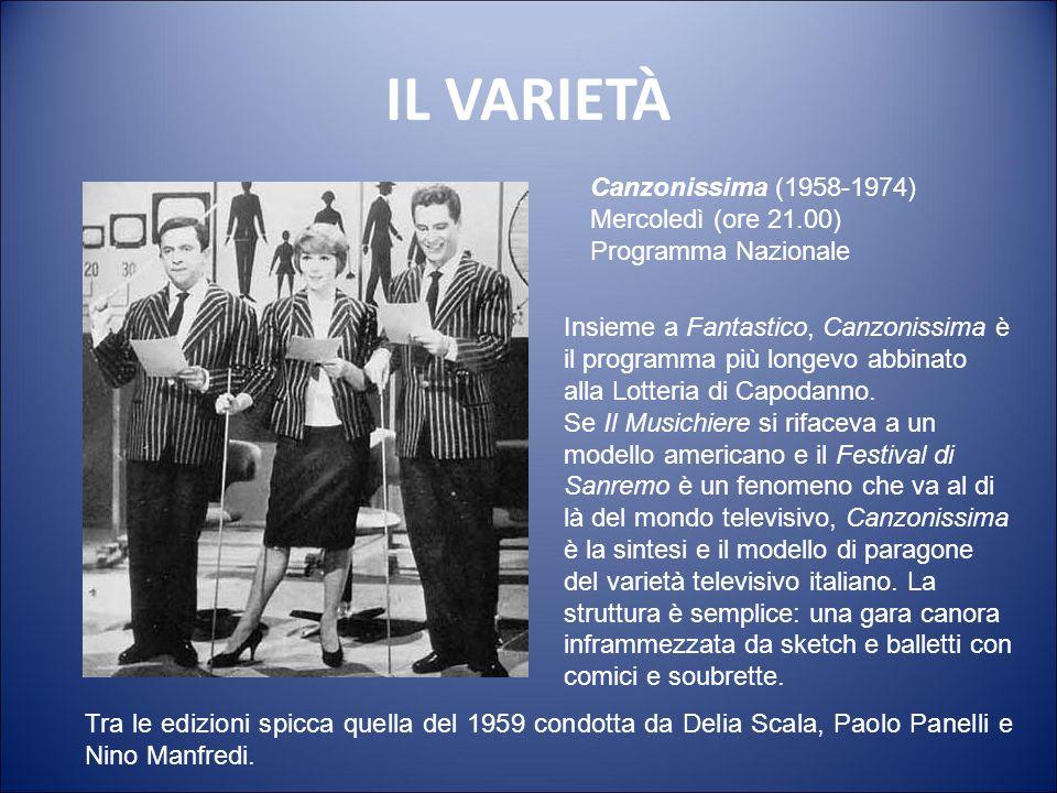 IL VARIETÀ Canzonissima (1958-1974) Mercoledì (ore 21.00)