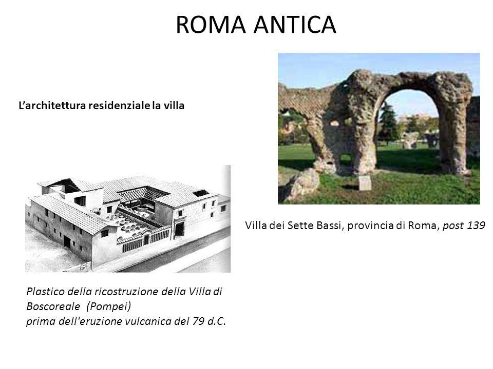 ROMA ANTICA L'architettura residenziale la villa