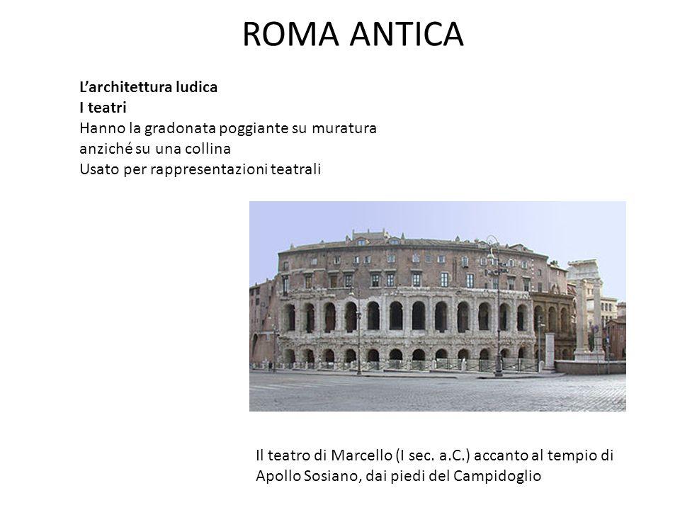 ROMA ANTICA L'architettura ludica I teatri
