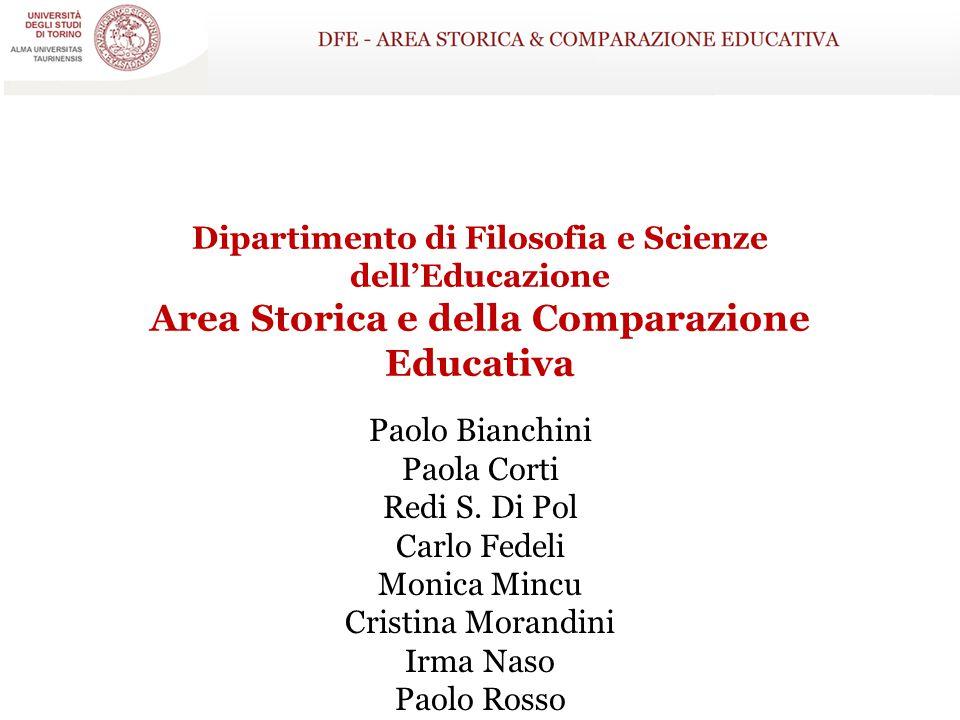 Dipartimento di Filosofia e Scienze dell'Educazione Area Storica e della Comparazione Educativa