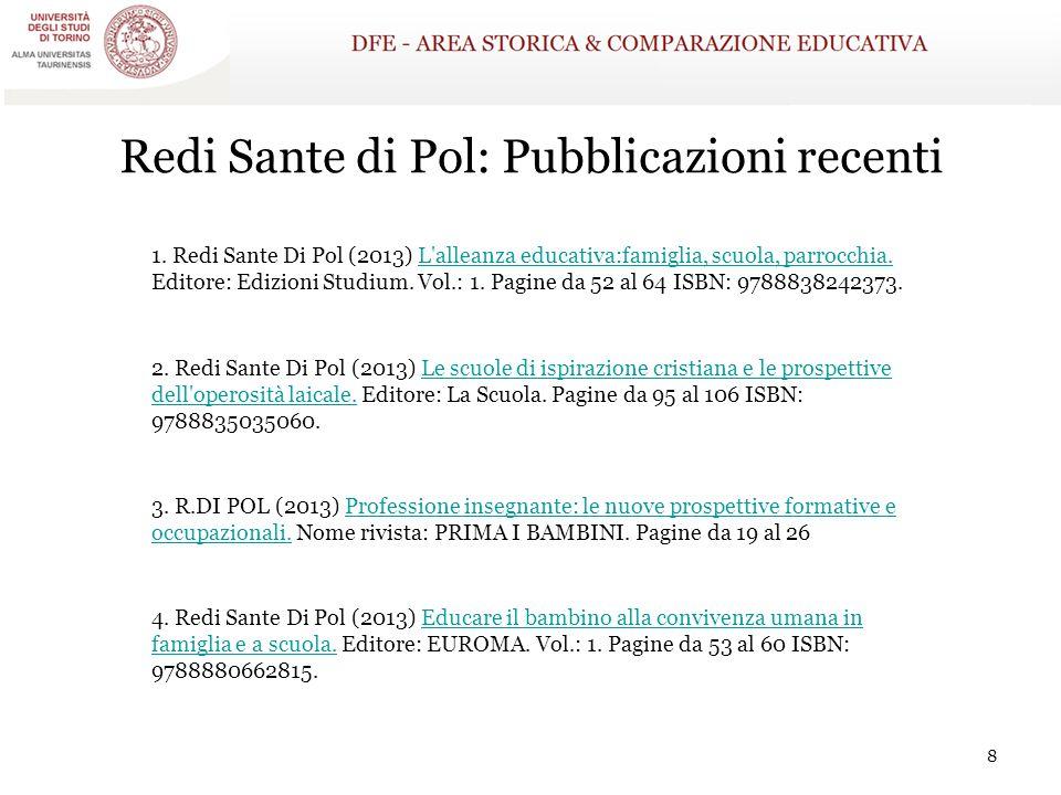 Redi Sante di Pol: Pubblicazioni recenti