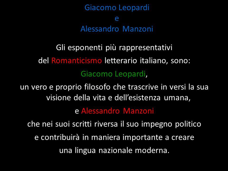 Giacomo Leopardi e Alessandro Manzoni