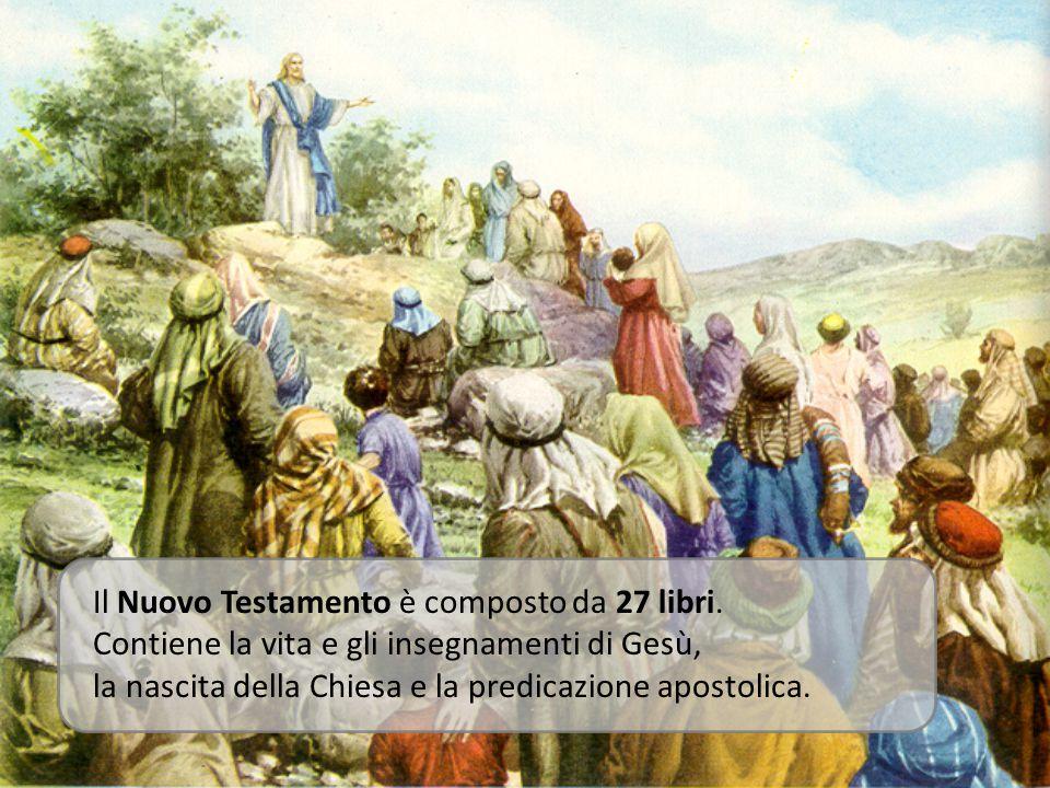Il Nuovo Testamento è composto da 27 libri.