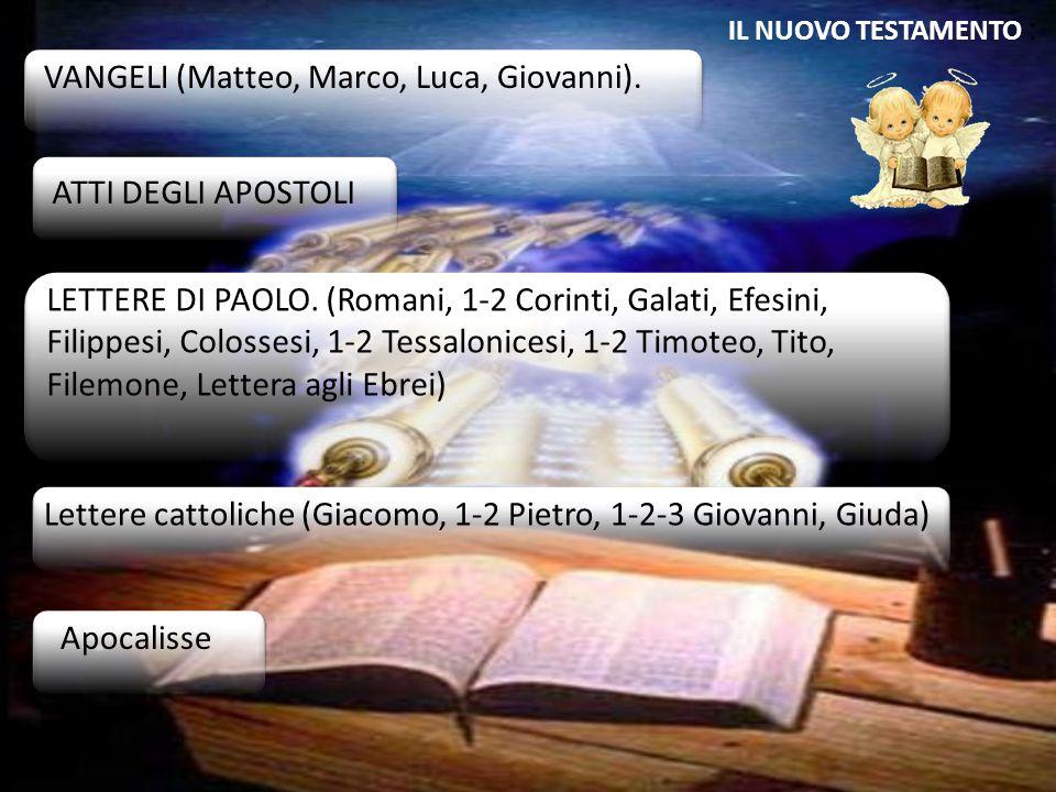 VANGELI (Matteo, Marco, Luca, Giovanni).