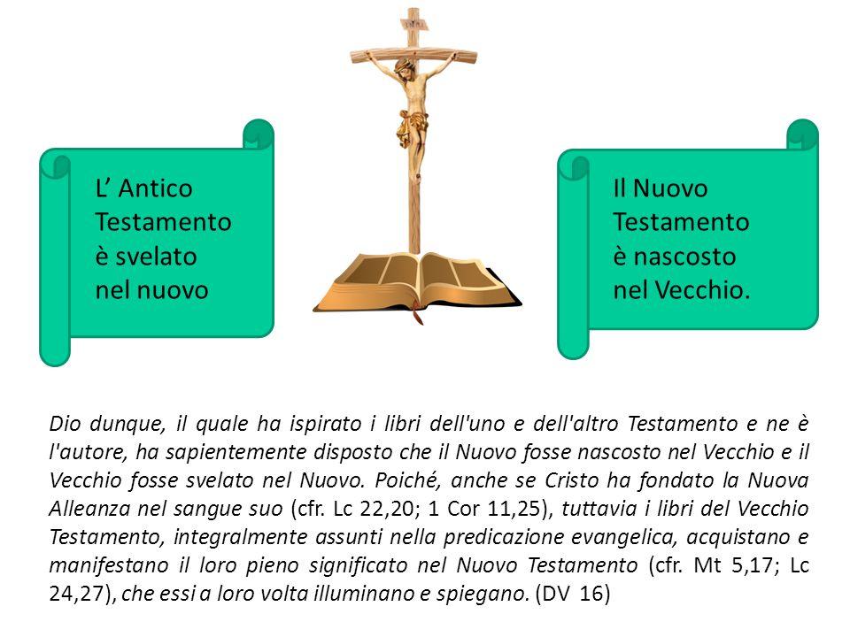 L' Antico Testamento è svelato nel nuovo Il Nuovo Testamento