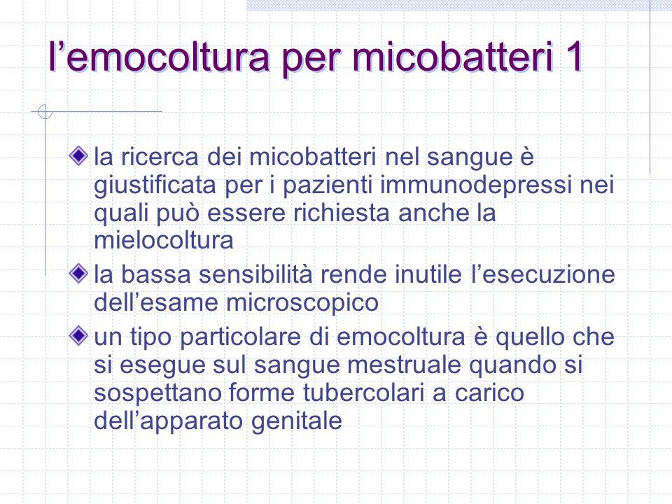 l'emocoltura per micobatteri 1