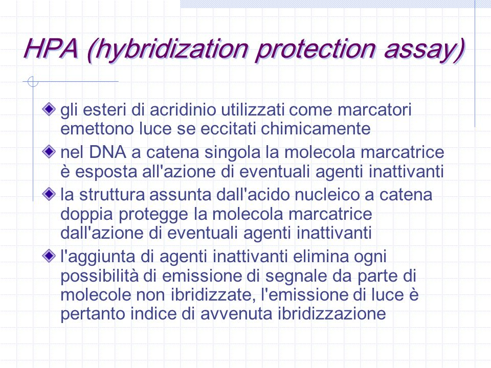 HPA (hybridization protection assay)
