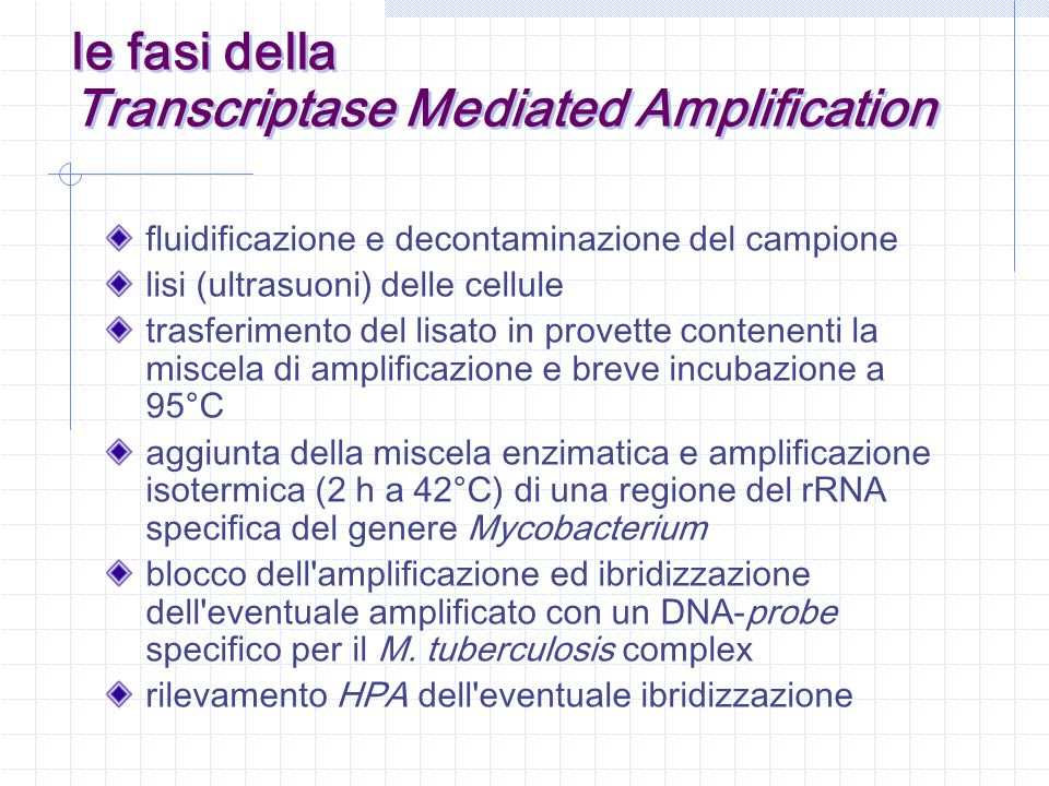 Transcriptase Mediated Amplification