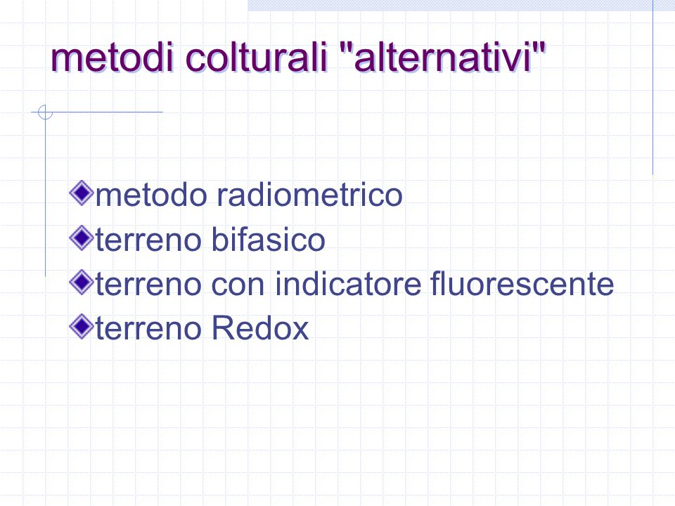metodi colturali alternativi
