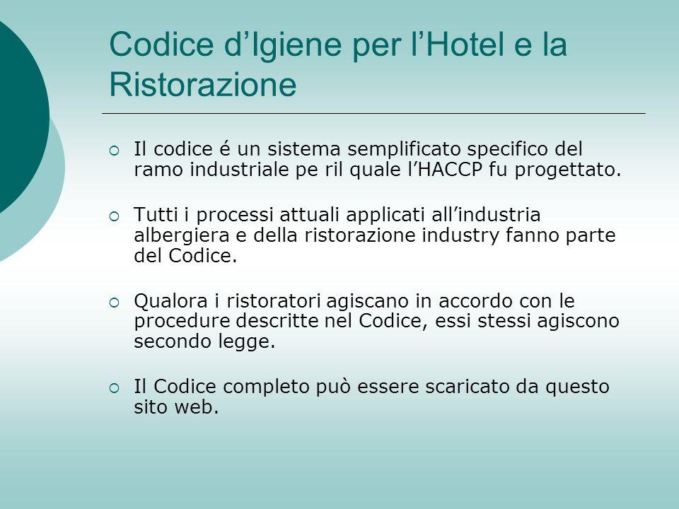 Codice d'Igiene per l'Hotel e la Ristorazione