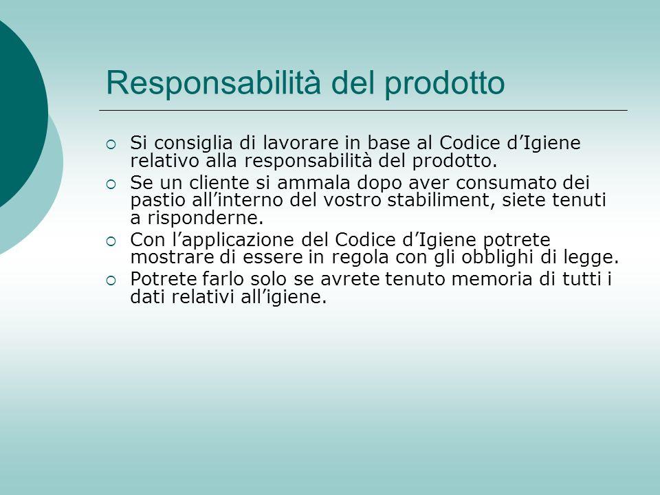 Responsabilità del prodotto