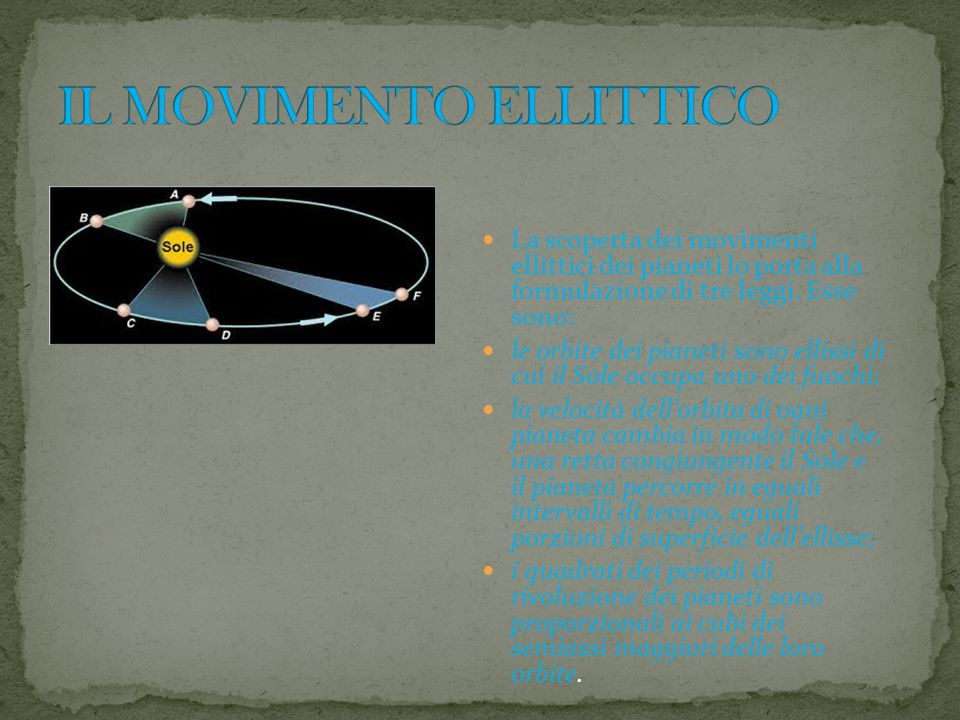 IL MOVIMENTO ELLITTICO