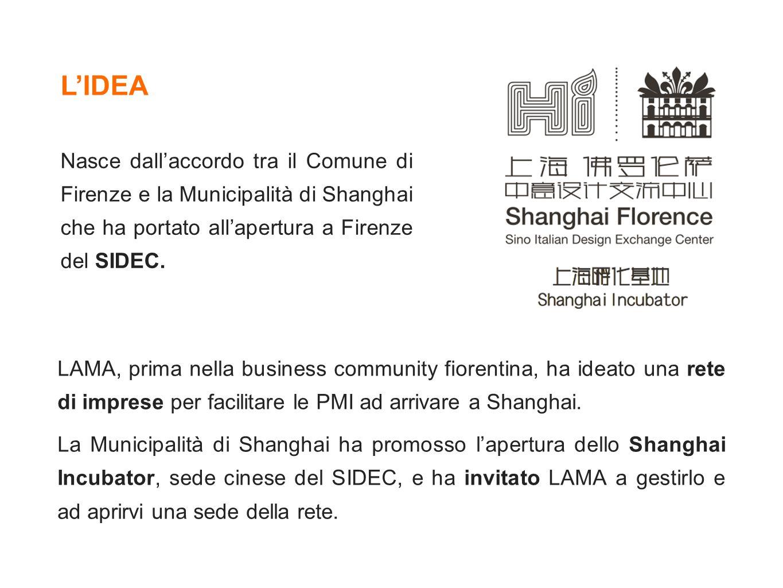 L'IDEA Nasce dall'accordo tra il Comune di Firenze e la Municipalità di Shanghai che ha portato all'apertura a Firenze del SIDEC.