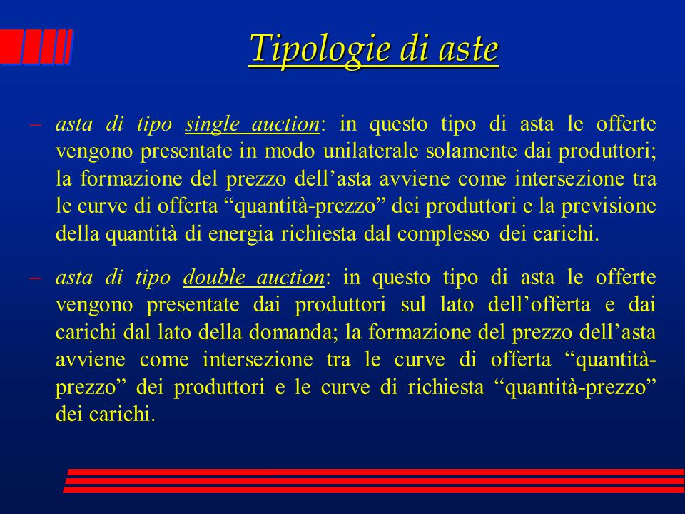 Tipologie di aste