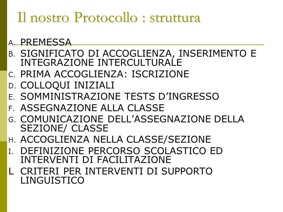 Il nostro Protocollo : struttura
