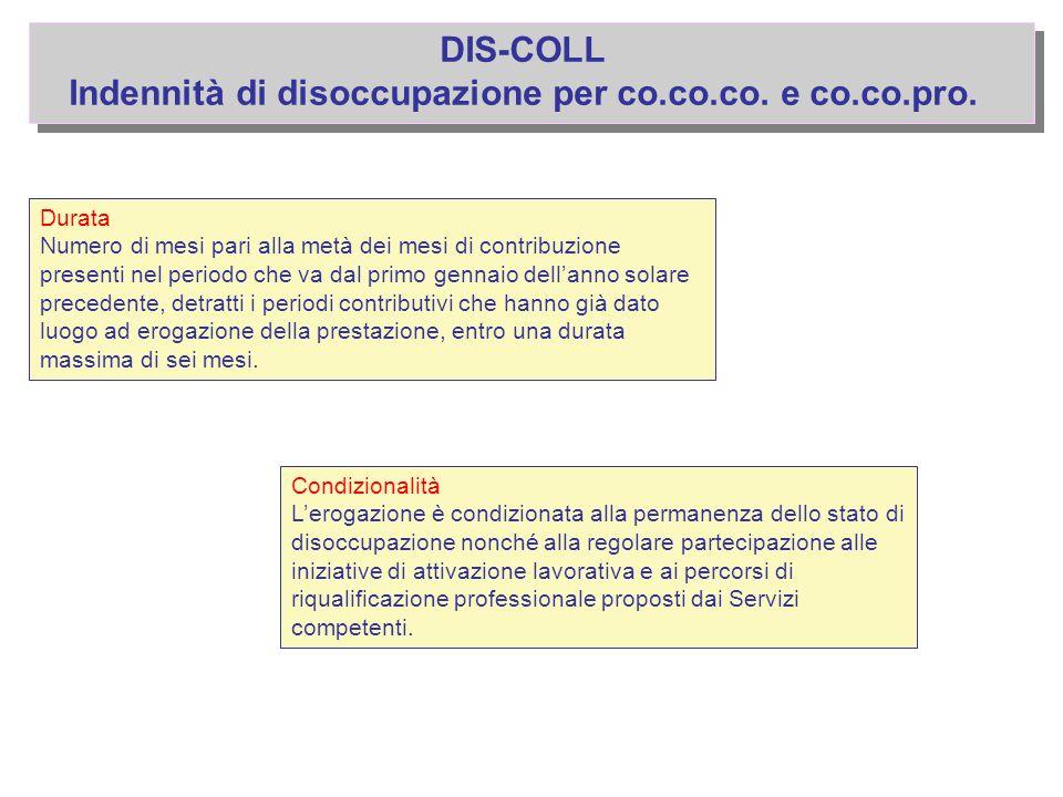 Indennità di disoccupazione per co.co.co. e co.co.pro.