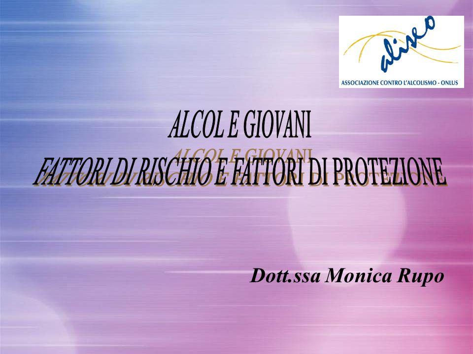 FATTORI DI RISCHIO E FATTORI DI PROTEZIONE