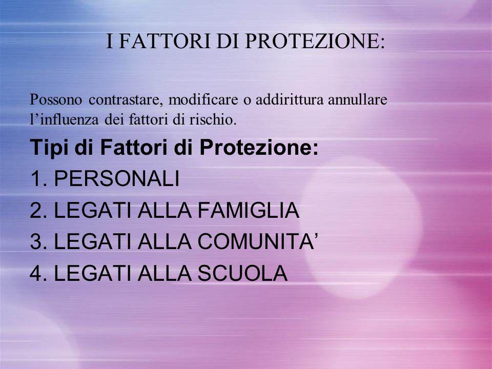 I FATTORI DI PROTEZIONE: